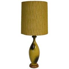 1950s-1960s Large Mid-Century Modern Ceramic Pottery Lamp