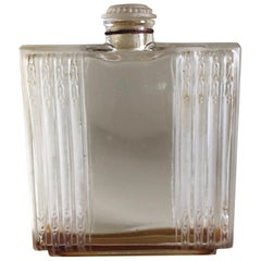 1925 Rene Lalique Chypre Perfume Bottle for D'Héraud Clear and Frosted Glass