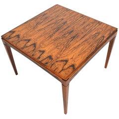 Danish Modern Brazilian Rosewood Square Coffee Table