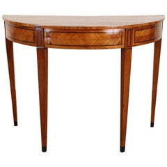 Antique Satinwood Console on Elegantly Tapered Legs