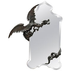 Mystical Dragon Mirror, Testolini Venezia, circa 1890