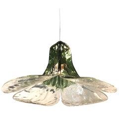 Carlo Nason for Mazzega Large Flower Pendant Light