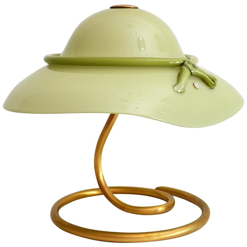 Schon Green Murano Glass Table Lamp From La Murrina, 1970s