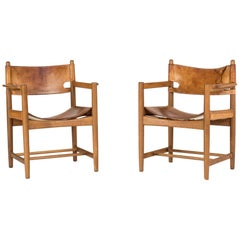 Pair of Hunting Chairs by Børge Mogensen