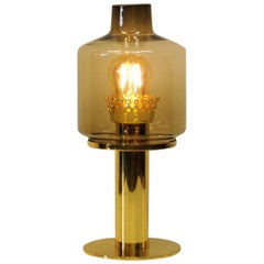 Glass and Brass Table Lamp B102 by Hans-Agne Jakobsson, 1960s, Sweden