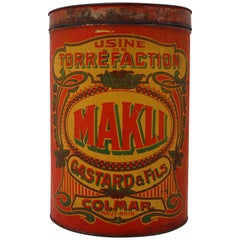 "Early 20th Century French Coffee Storage Box ""Makli"" Colmar, France"