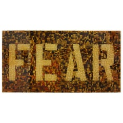 Fear, One of a Kind Mixed-Media on Wood