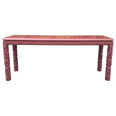 Extra Long Asian Style Lacquered Console