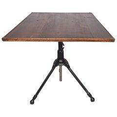 Vintage Industrial Drafting/Dining Table