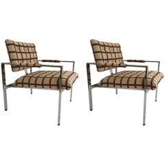 Pair of Chrome Milo Baughman Armchairs 2