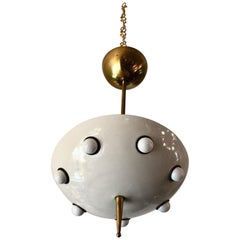 Half-Sphere Hanging Light by Oscar Torlasco, Italy, 1960s, Pair Avail