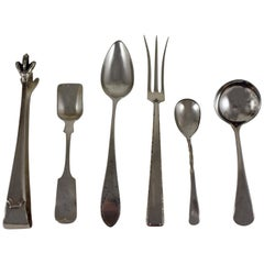 19th Century Estate Sterling Silver Serving Pieces, a Mixed Set of Six