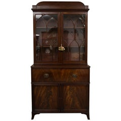 English George III Mahogany Secretary