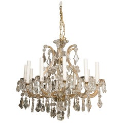 Vintage Maria Theresa Twelve-Light Chandelier