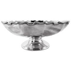 Sterling Bowl on Pedestal
