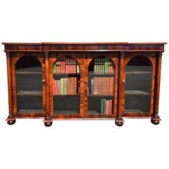 Antique Bookcase in Rosewood, English, circa 1830
