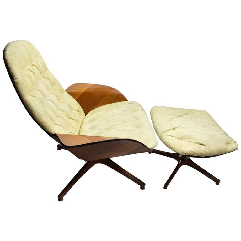 Mulhauser for Plycraft Lounge Chair and Ottoman