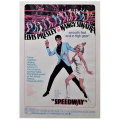 Speedway Elvis Presley 1968 Original Linen Backed Theatrical Poster