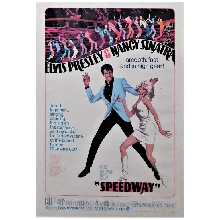 Speedway Elvis Presley 1968 Original Linen Backed Theatrical Poster