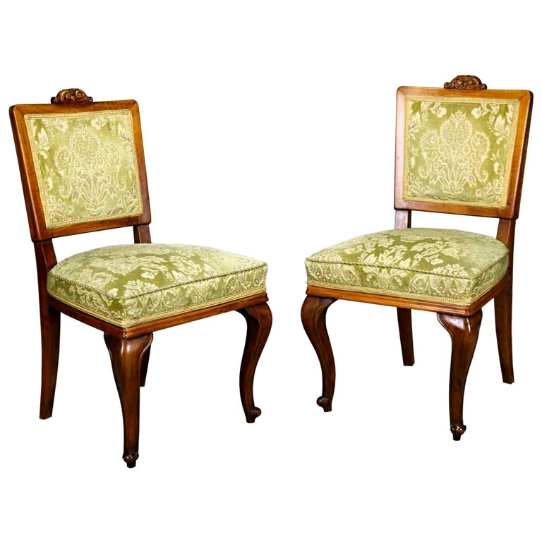 Pair of Fruitwood Side Chairs, circa 1900