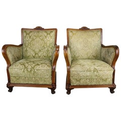 Pair of Fruitwood Armchairs, circa 1900