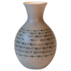 Bitossi Italian Pottery Raymor Fish Vase Vintage Londi Ceramic Original Label
