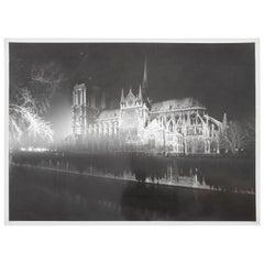 Serge Boiron Silver Gelatin Print Black & White Photograph Notre Dame Cathedral