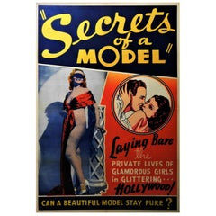 Secrets of a Model 1940 Original Linen Backed Theatrical Poster