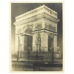 Silver Gelatin Print Black & White Photograph Arc de Triomphe Paris 1934