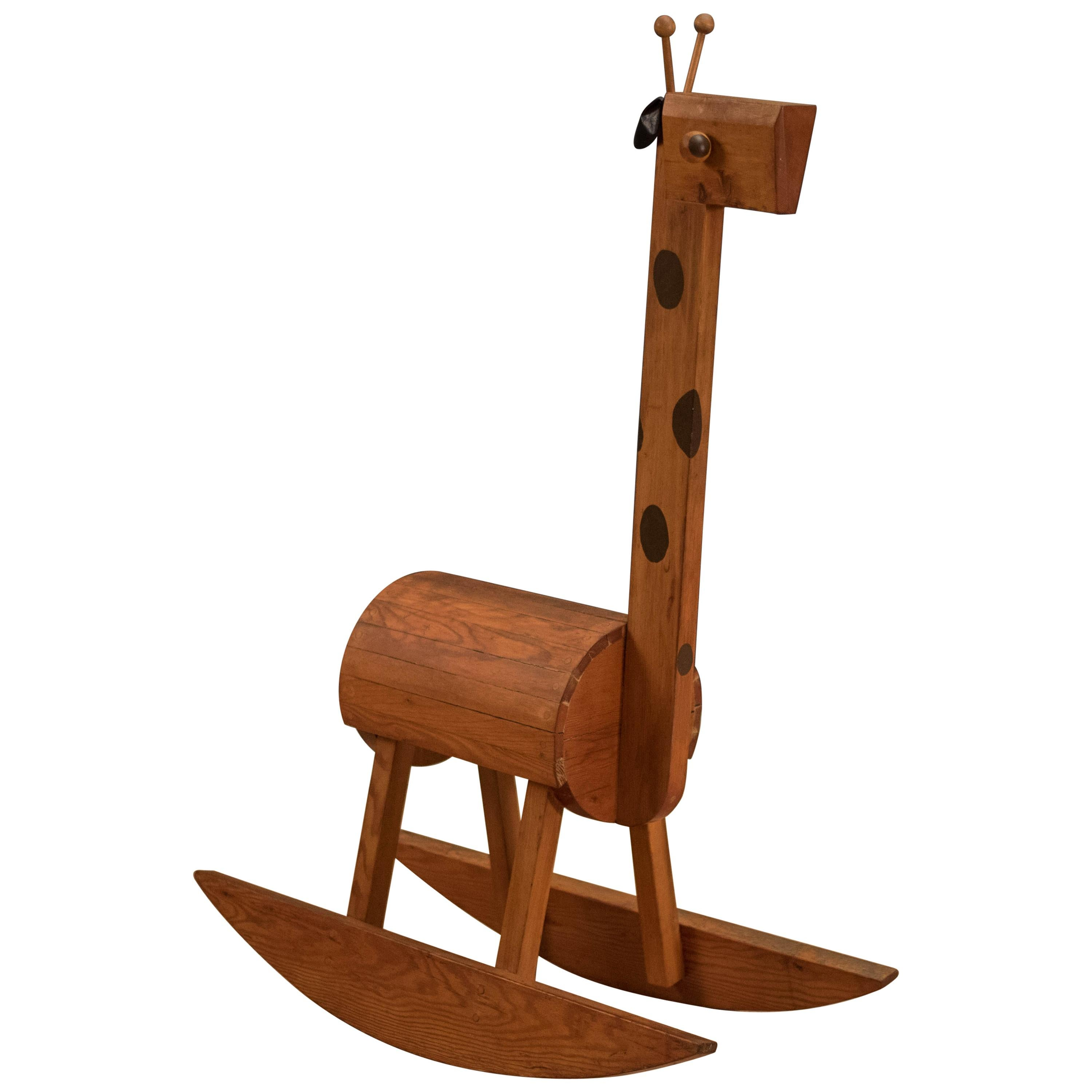 Mid Century Giraffe Rocking Chair Toy For Sale