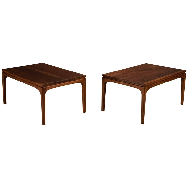 Vintage Pair of Solid Walnut End Tables
