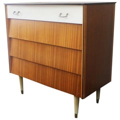 English Midcentury Retro 1960s Chest of Drawers by Avalon