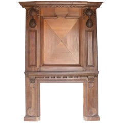 Grand 19th Century English Oak Fire Surround or Mantelpiece