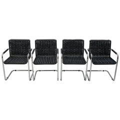 Four Mart Stam cantiliver chairs by Fasem Italy 70s