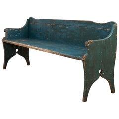 Early 19th Century Swedish Folk Art Bench