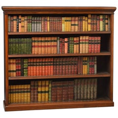 Late Victorian Solid Walnut Open Bookcase
