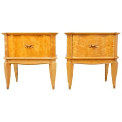 Italian Bedside Tables in Satin Birch