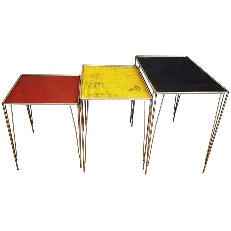 Perforated Metal Nesting Tables
