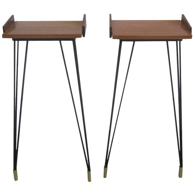 Pair of French Mid-Century Modern Consoles or Nightstands Pierre Guariche For Sale
