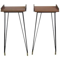 Pair of French Mid-Century Modern Consoles or Nightstands Pierre Guariche