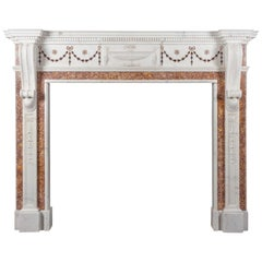 Antique Marble Fireplace in the George III Neoclassical Style