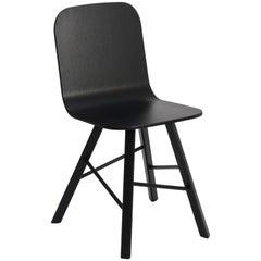 Tria Simple Chair, Black Oak, Minimalist Design Icon Inspired to Graphic Art