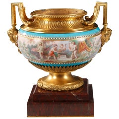 """Magnificent """"Sèvres"""" Porcelain Louis XVI Style Centerpiece by A. Schilt"""