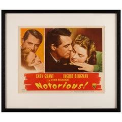 """""""Notorious"""" Original US Lobby Card"""