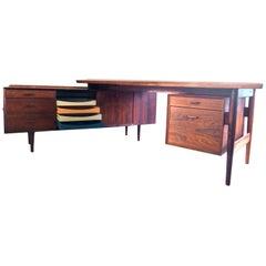 Rosewood Desk by Arne Vodder for Sibast from 1950