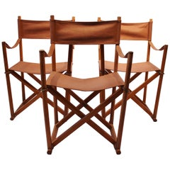 Set of Three Folding Chairs, Model MK99200 by Mogens Koch, 1960s