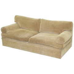 George Smith Bolster Three-Seat Sofa Feather Filled Cushions Stamped