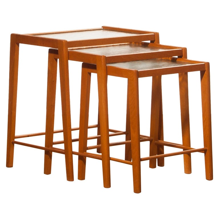1960s set of three swedish beech nesting tables for sale at 1stdibs 1960s set of three swedish beech nesting tables for sale watchthetrailerfo