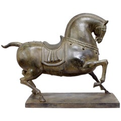 Bronze Horse Sculpture, circa 1950