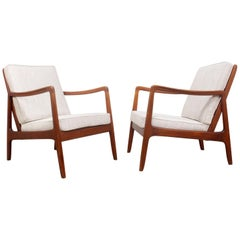 Pair of Armchairs by Ole Wancher for France and Son, circa 1950